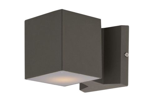 """Lightray 4"""" 2 Light Square Outdoor Wall Sconce in Architectural Bronze"""