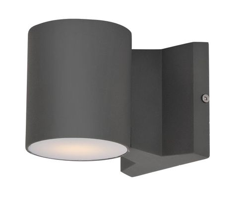 """Lightray 4"""" 2 Light Round Outdoor Wall Sconce in Architectural Bronze"""