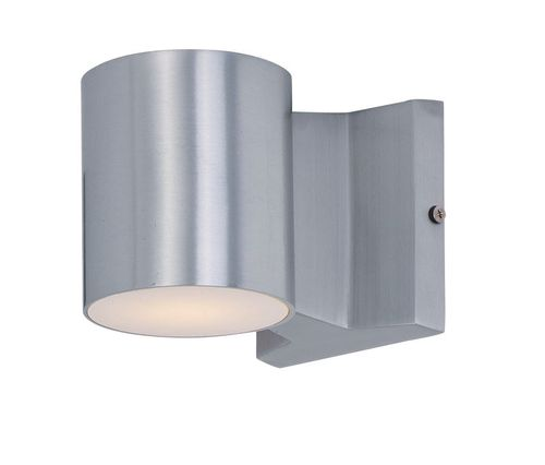 """Lightray 4"""" 2-Light Outdoor Wall Mount - Brushed Aluminum"""