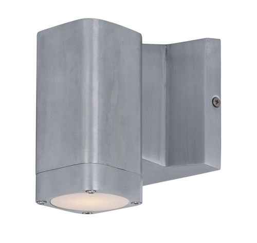 """Lightray 4"""" Single Light Outdoor Wall Sconce in Brushed Aluminum"""