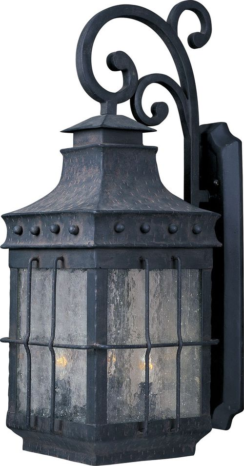 """Nantucket 8.5"""" 3-Light Outdoor Wall Mount - Country Forge"""