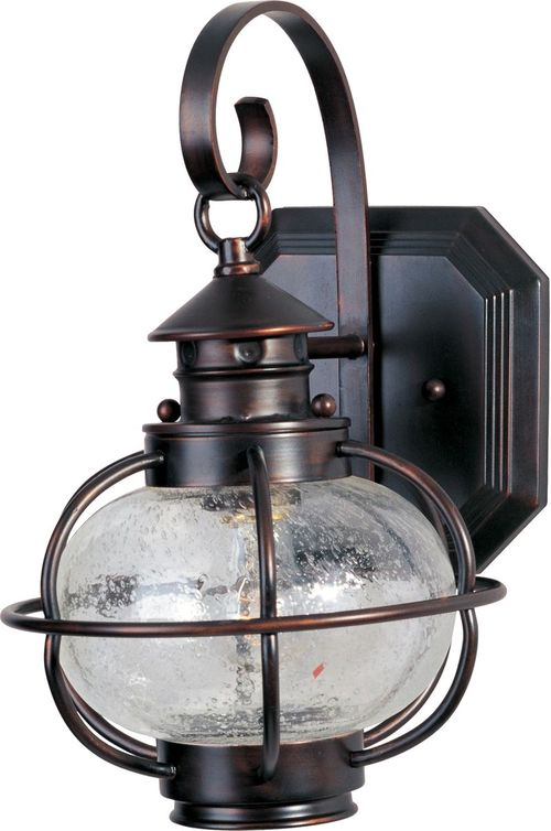 """Portsmouth 8"""" Single Light Outdoor Wall Mount Light in Oil Rubbed Bronze"""