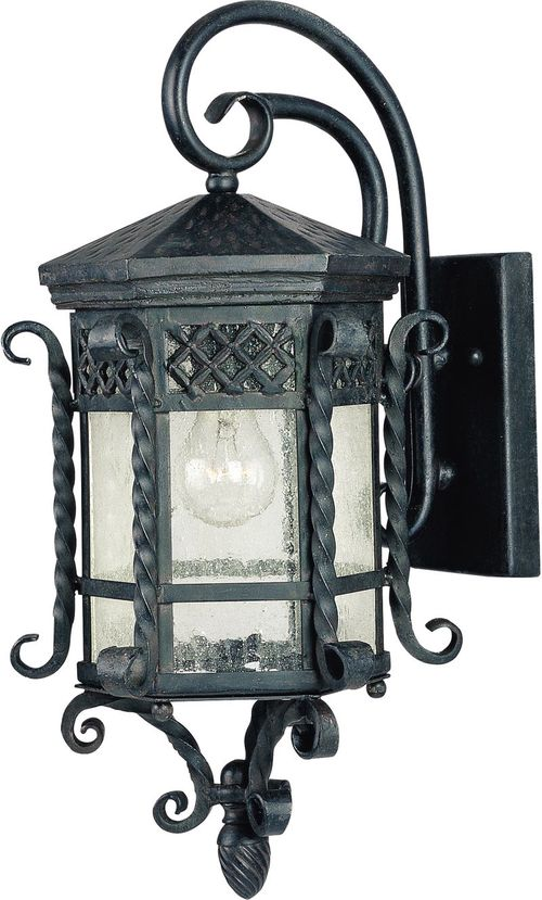 """Scottsdale 9.5"""" Single Light Outdoor Wall Mount Light in Country Forge"""