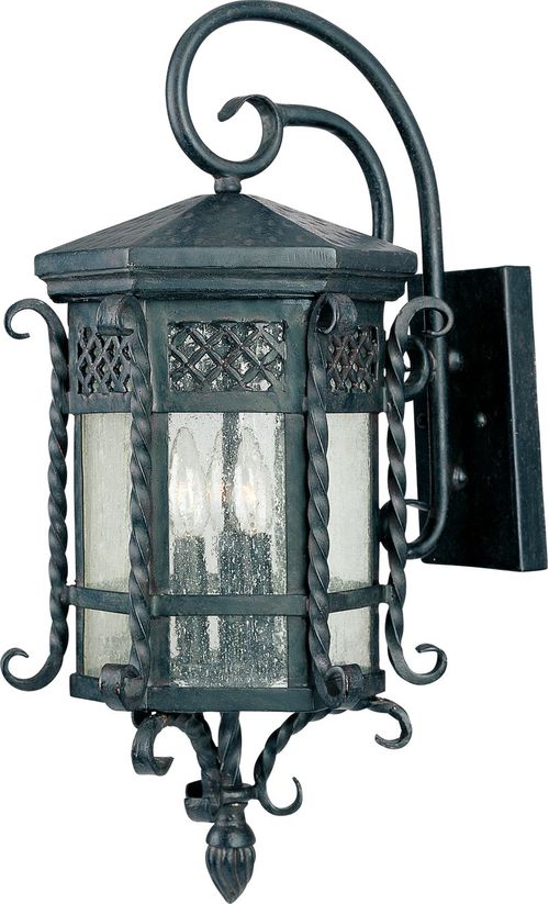 """Scottsdale 11.75"""" 3 Light Outdoor Wall Mount Light in Country Forge"""