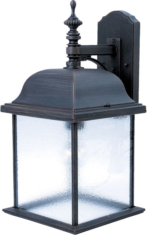 "Senator 9"" 1-Light Outdoor Wall Mount - Rust Patina"