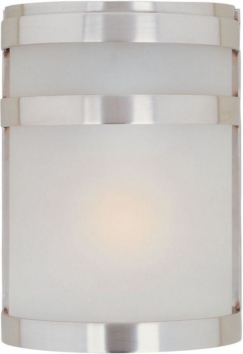 """Arc E26 6.5"""" 1-Light Wall Sconce - Stainless Steel"""