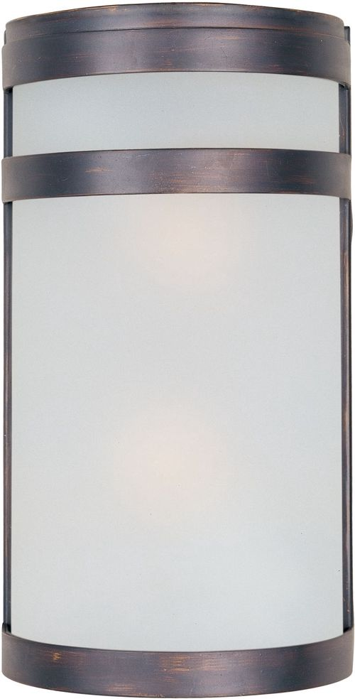 """Arc E26 6.5"""" 2 Light Wall Sconce in Oil Rubbed Bronze"""