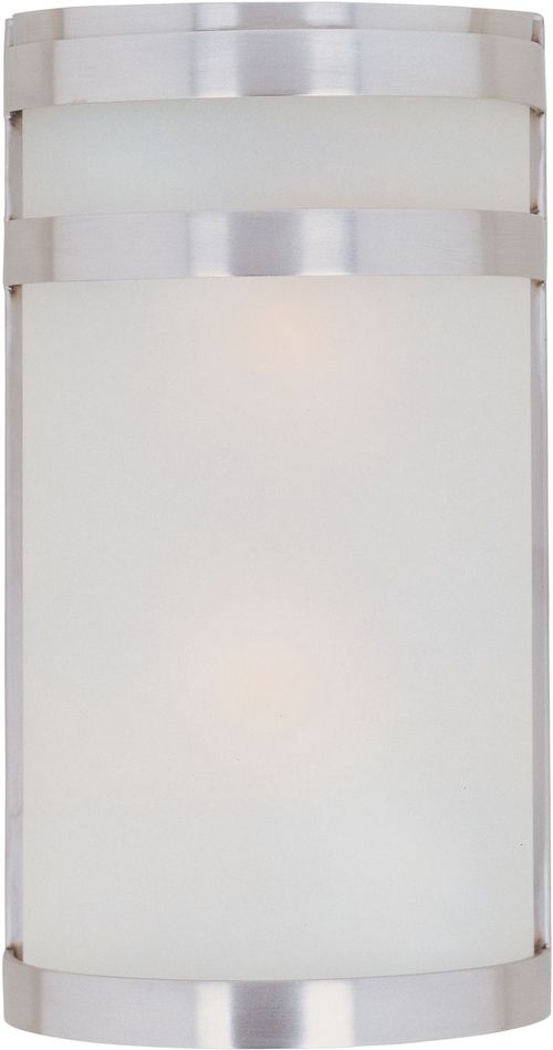 """Arc E26 6.5"""" 2-Light Wall Sconce - Stainless Steel"""