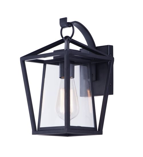 """Artisan 7"""" Single Light Outdoor Wall Sconce in Black"""