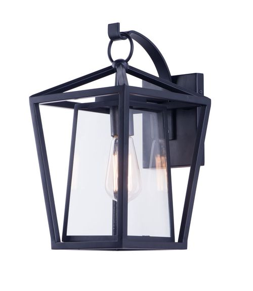 """Artisan 9"""" Single Light Outdoor Wall Sconce in Black"""
