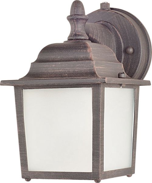 """Builder Cast E26 8.5"""" Single Light Outdoor Wall Sconce in Rust Patina"""