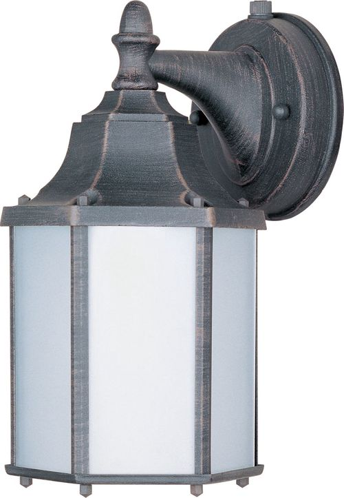 """Builder Cast E26 10"""" Single Light Outdoor Wall Sconce in Rust Patina"""