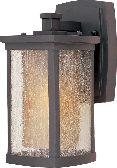 """Bungalow E26 5.25"""" Single Light Outdoor Wall Sconce in Bronze"""