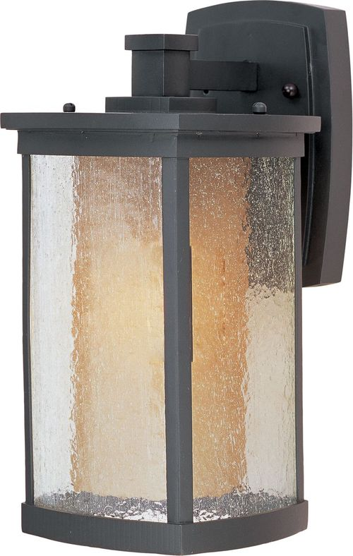 """Bungalow E26 7"""" Single Light Outdoor Wall Sconce in Bronze"""