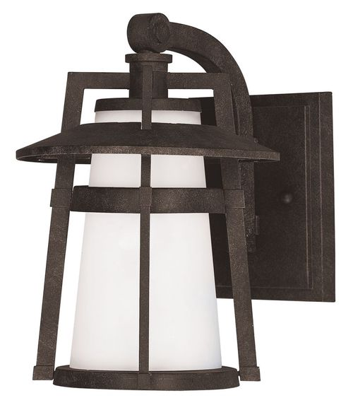 """Calistoga 7"""" Single Light Outdoor Wall Sconce in Adobe"""