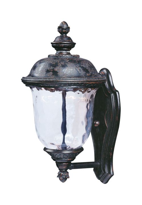 """Carriage House 16"""" Single Light Outdoor Wall Sconce in Oriental Bronze"""