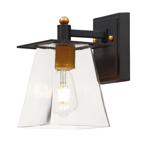 """Chalet 6"""" Single Light Wall Sconce in Bronze and Gold"""
