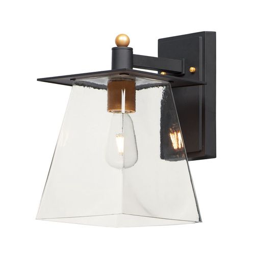 """Chalet 8"""" Single Light Wall Sconce in Bronze and Gold"""