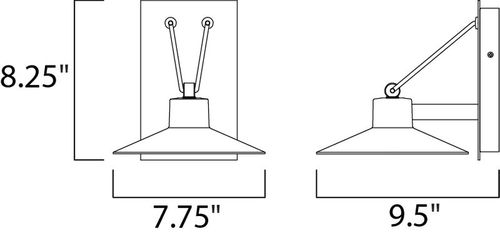 """Civic 7.75"""" 1-Light Outdoor Sconce - Architectural Bronze"""