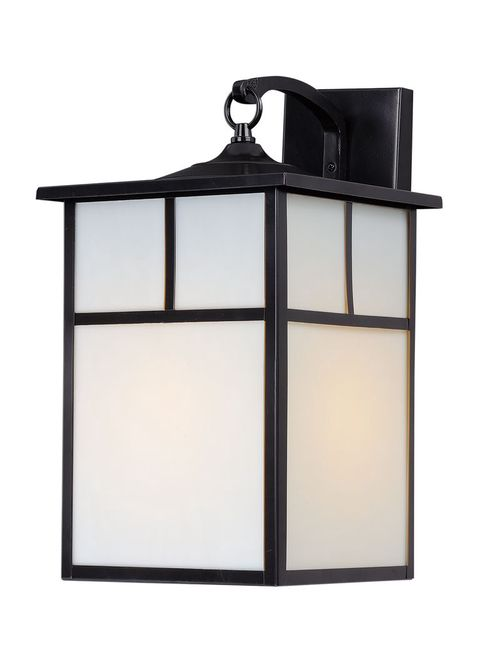 """Coldwater 9"""" Single Light Outdoor Wall Sconce in Black"""
