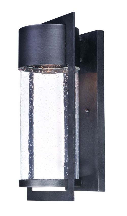 """Focus 9"""" Single Light Outdoor Wall Sconce in Black"""