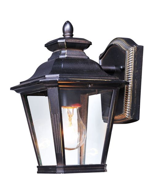 """Knoxville 7"""" Single Light Outdoor Wall Sconce in Bronze with Clear Glass Finish"""