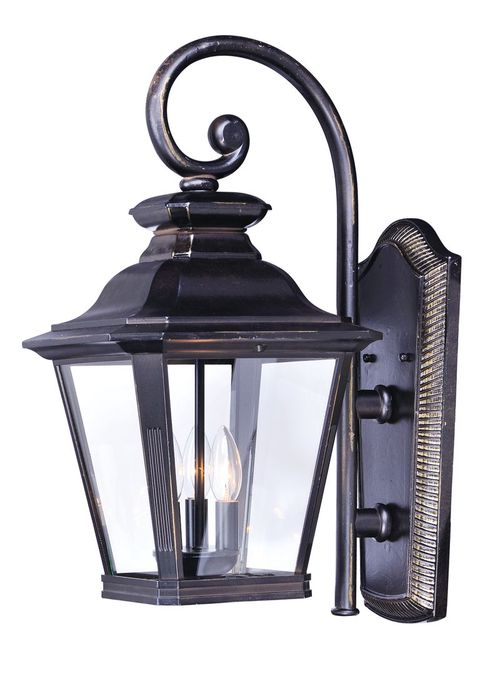 """Knoxville 9"""" 3 Light Outdoor Wall Sconce in Bronze"""