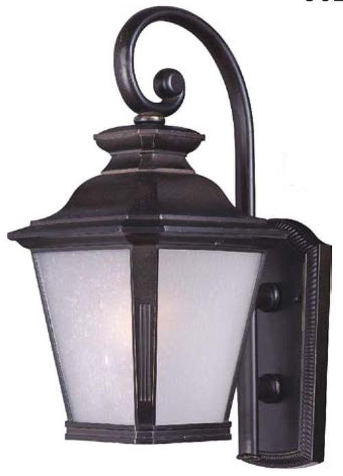 """Knoxville 9"""" Single Light Outdoor Wall Sconce in Bronze - Integrated Bulb"""