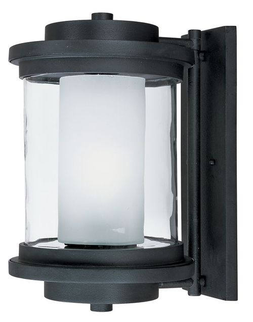 """Lighthouse 10"""" Single Light Outdoor Wall Sconce in Anthracite"""