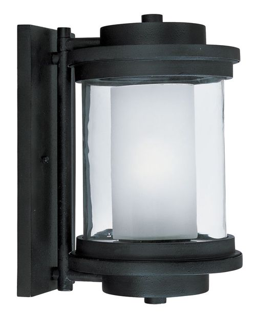 """Lighthouse E26 8"""" Single Light Outdoor Wall Sconce in Anthracite"""