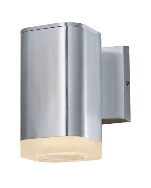 """Lightray 5.25"""" Single Light Outdoor Wall Sconce in Brushed Aluminum"""
