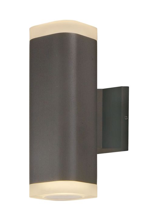 """Lightray 3.5"""" 2 Light Outdoor Wall Sconce in Architectural Bronze"""