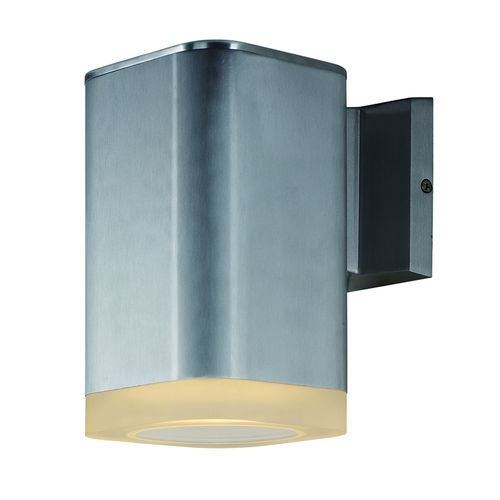"""Lightray 8.25"""" Single Light Outdoor Wall Sconce in Brushed Aluminum"""