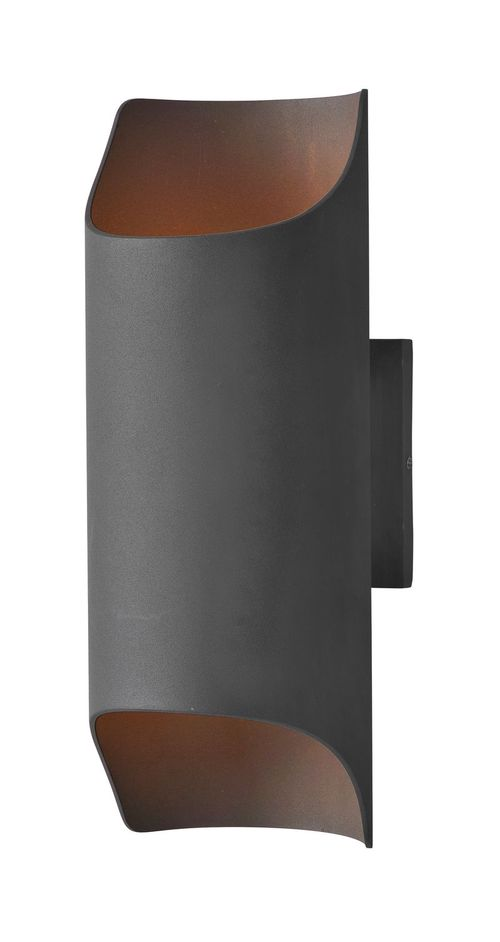 """Lightray 5.75"""" 2 Light Outdoor Wall Sconce in Architectural Bronze"""
