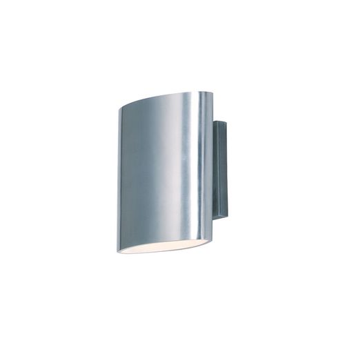 """Lightray 6.75"""" 2-Light Outdoor Sconce - Brushed Aluminum"""