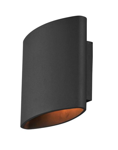 """Lightray 7"""" 2 Light Outdoor Wall Sconce in Architectural Bronze"""