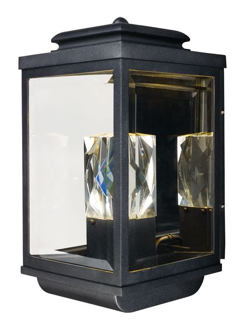 """Mandeville 9"""" 2 Light Outdoor Wall Sconce in Galaxy Black"""