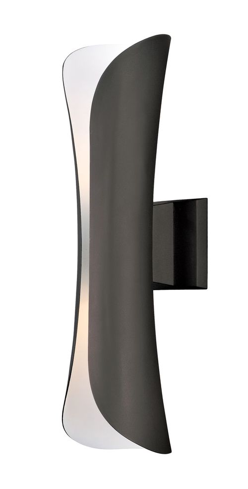 """Scroll 5.5"""" 2 Light Outdoor Wall Sconce in Architectural Bronze"""