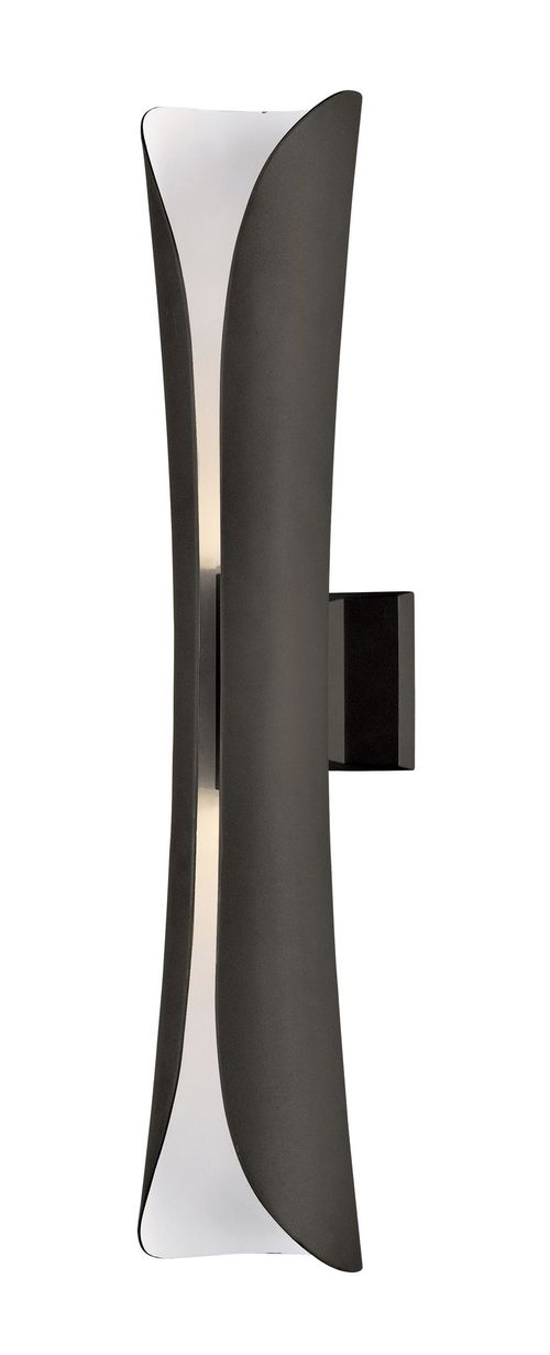 """Scroll 5.75"""" 2-Light Outdoor Sconce - Architectural Bronze"""