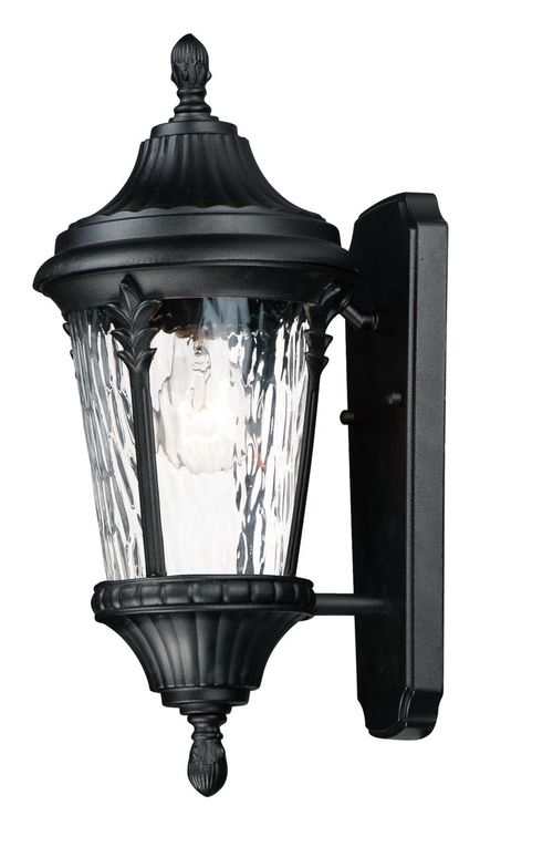 """Sentry 7"""" Single Light Outdoor Wall Sconce in Black"""