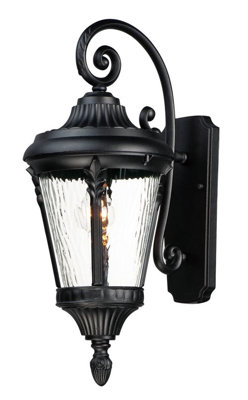 """Sentry 9"""" Single Light Outdoor Wall Sconce in Black"""