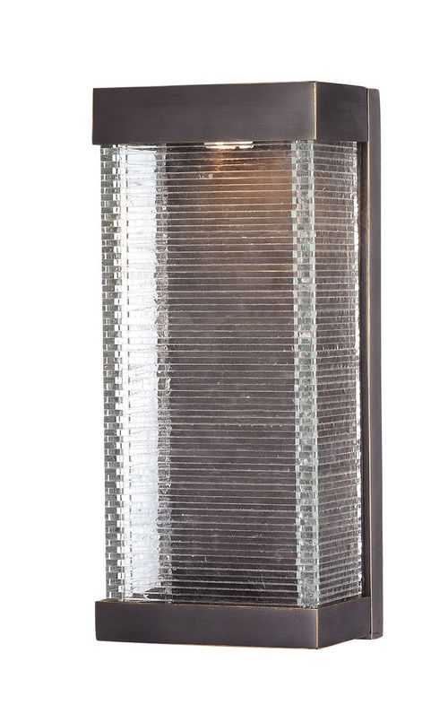 """Stackhouse VX 7"""" Single Light Outdoor Wall Sconce in Bronze"""