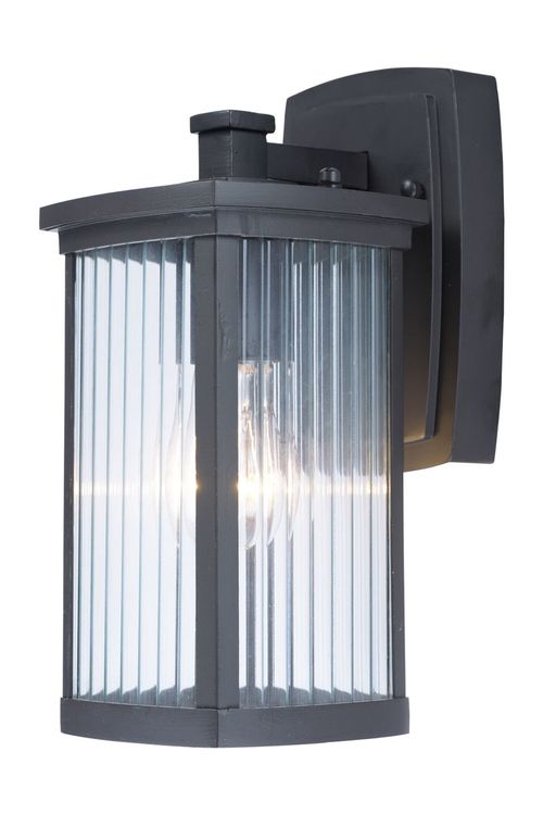 """Terrace 5.25"""" Single Light Outdoor Wall Sconce in Bronze with Clear Glass Finish"""
