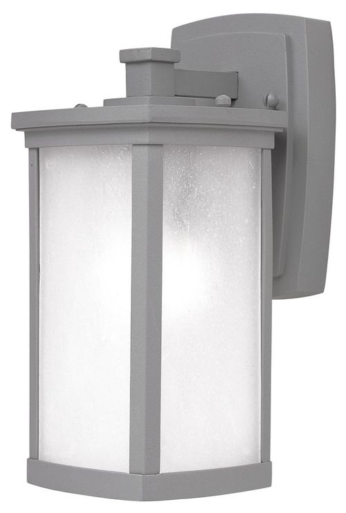 """Terrace 5.25"""" Single Light Outdoor Wall Sconce in Platinum"""