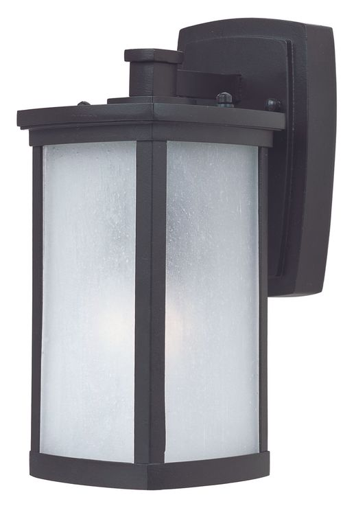 """Terrace 5.25"""" Single Light Outdoor Wall Sconce in Bronze with Frosted Glass Finish"""