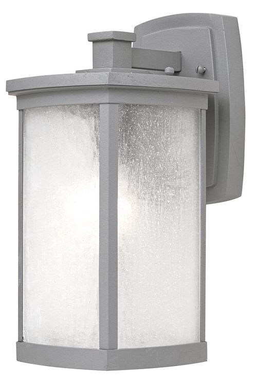 """Terrace 7"""" Single Light Outdoor Wall Sconce in Platinum"""