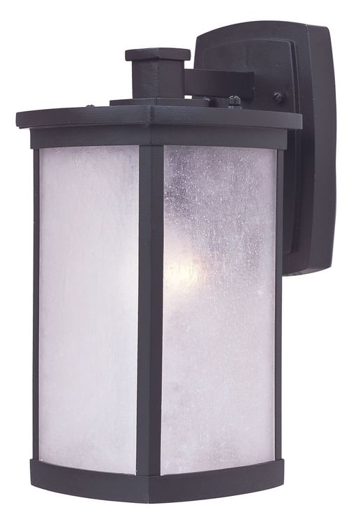 """Terrace 7"""" Single Light Outdoor Wall Sconce in Bronze with Frosted Glass Finish"""