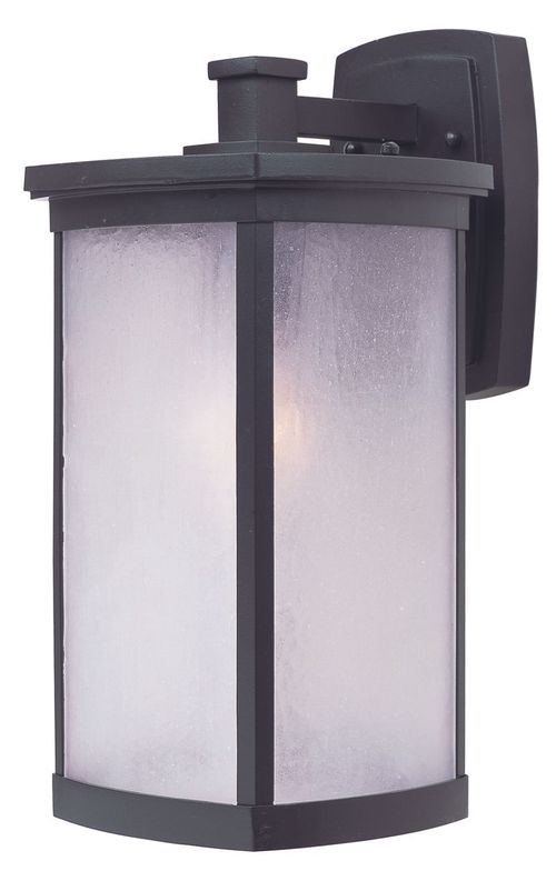"""Terrace 8"""" Single Light Outdoor Wall Sconce in Bronze With Frosted Glass Finish"""