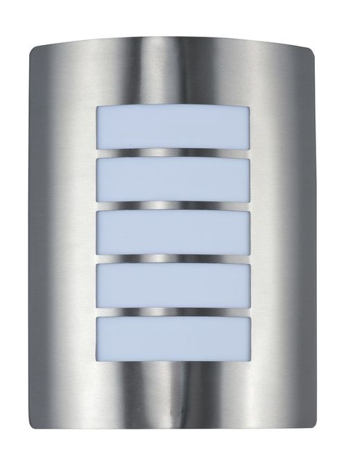 """View E26 9"""" 1-Light Outdoor Sconce - Stainless Steel"""