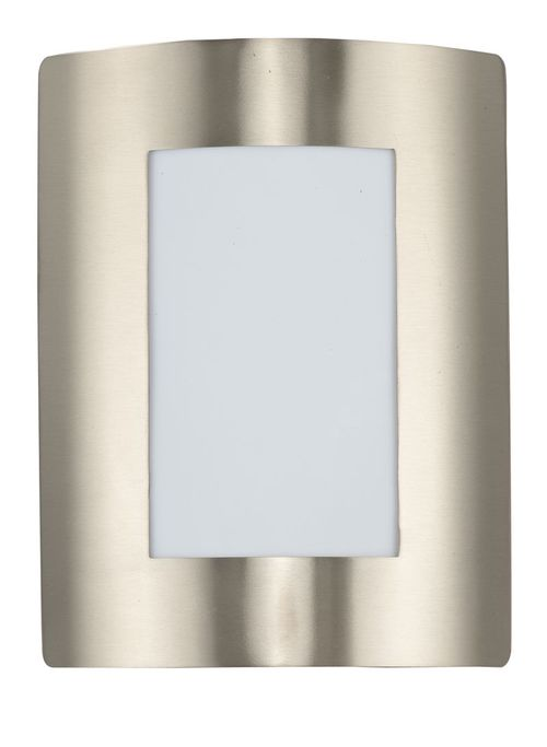 """View E26 8"""" Single Light Outdoor Wall Sconce in Stainless Steel"""